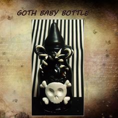 Goth Baby Bottle Gift by ARaysCreation on Etsy, $5.25