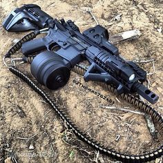 this particular weapon is in 7.62 milimeter caliber similar to the M-60 machine gun and AK-47