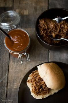 Chipotle Bourbon Barbecue Pulled Pork Sliders - Savory Simple