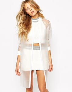 Buy Noisy May Clear Rain Mac at ASOS. Get the latest trends with ASOS now. Raincoat Outfit, Mens Raincoat, Raincoat Jacket, Rain Jacket, Stylish Raincoats, Raincoats For Women, Adrette Outfits, Preppy Outfits, Rain Mac
