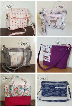 Bag sewing patterns on Lorelei Jayne. Easy beginner to intermediate sewing patterns