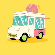 Création d'une illustration food Car #Illustration #Photoshop #Design #Graphisme #Food #Donuts