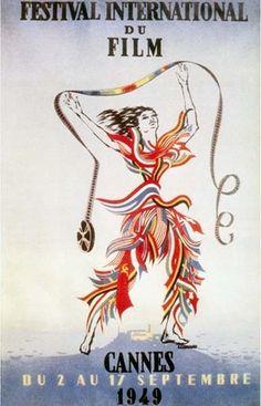 Official Festival de Cannes Poster, 1949