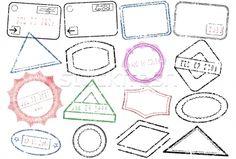 Passaporte · post · carimbo · vetor · - ilustração de vetor © Bytedust (#291388)   Stockfresh