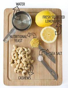 The best damn vegan sour cream - 5 ingredients and 10 minutes Vegan Sauces, Raw Vegan Recipes, Vegan Foods, Vegan Dishes, Vegan Gluten Free, Vegetarian Recipes, Vegan Cheese Recipes, Carb Free, Vegan Cru