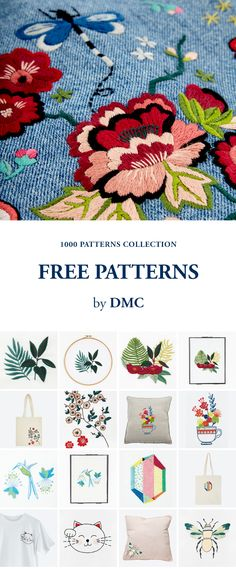 FREE EMBROIDERY AND CROSS STITCH PATTERNS by DMC.
