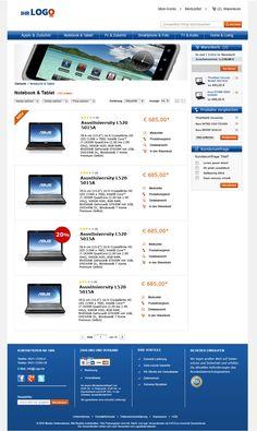 Kategorieliste des TLC Magento Onlineshop Basic.  Mehr unter: http://www.tlc-communications.de/produkte/e-commerce/onlineshop-basic.html