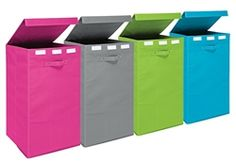 Collapsible Fold-Up Laundry Hamper - Vibrant Collapsible Dorm Supply Space Saving Decor