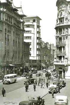Once Upon A Time in Bucharest: Hotel Splendid Little Paris, Bucharest Romania, Modernism, Time Travel, 1950s, Street View, Urban, Memories, Bucharest