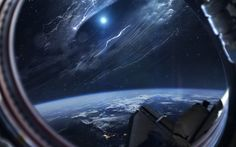 """First contact - Vadim Sadovski """"The first photo of a wormhole opened near the planet Earth in June 2017, made from the international space station. An unidentified object that appeared shortly after..."""