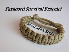 How to Make a Mad Max Style Paracord Bracelet –DIY…