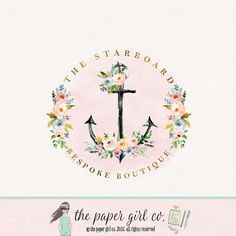 Love the anchor and flowers with gold font!