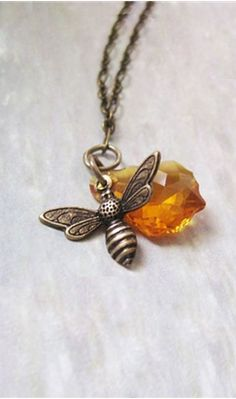 I don't like bees, but my name means honeybee (Melissa) so I thought it would be neat to wear this! :-)