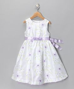 Take a look at this White & Lilac Flower Dress - Infant & Toddler by Nannette: Dresses on @zulily today!