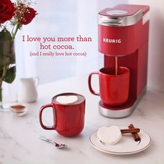 This Valentine's Day with a K-Mini Plus. Perfect for the person you love most (even more than hot cocoa). Pod Coffee Makers, Drip Coffee Maker, Top Coffee Brands, Keurig Mini, Water Fast Results, Reusable Coffee Filter, Perfect Cup Of Tea, Home Coffee Stations, Single Serve Coffee
