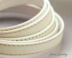 10mm Flat White leather strap, 10x2mm White flat leather cord, Leather string, Stitched leather strip, 10 mm stap Leather string  WHFL10X2 Leather Cord, White Leather, White Flats, Stitching Leather, Trending Outfits, Unique Jewelry, Handmade Gifts, Etsy, Vintage