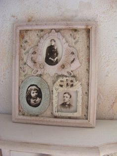 12th scale miniature shabby chic pictures in a by shabbychicminis, $38.00