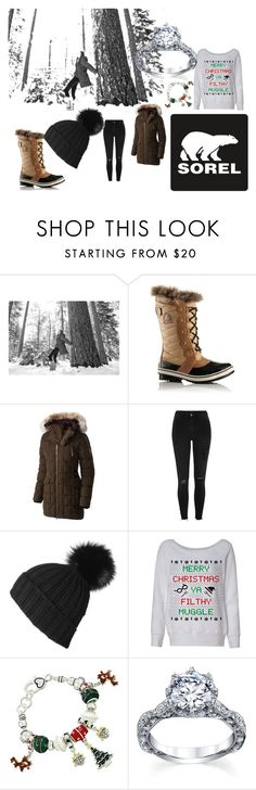 """Tame Winter with SOREL: Contest Entry"" by bowkam on Polyvore featuring SOREL, River Island, Black and sorelstyle"