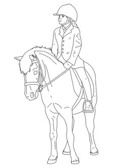 A list of free horse coloring pages HelloKids site you