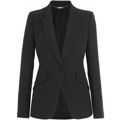 Alexander McQueen Crepe blazer (99.890 RUB) via Polyvore featuring outerwear, jackets, blazers, tailored jacket, crepe blazer, alexander mcqueen, crepe jacket и blazer jacket