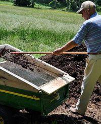 Using/ a Dirt Sifter to Make Raised Garden Soil Mix