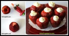 Learn to make Valentine Strawberries by following this how to DIY tutorial. Grab the needed tools (strawberries, cream cheese, vanilla) and get creative! Flower Tutorial, Diy Tutorial, Balloon Flowers, Valentines Diy, Delicious Desserts, Vanilla, Good Food, Strawberry, Sweets