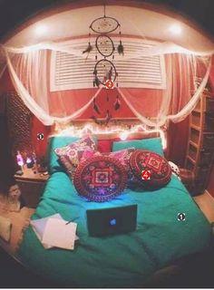 quarto hippie diy decorar decoração colorido hipster tumblr blog DIY como decorar passo a passo bedrom teen adolescente personalidade