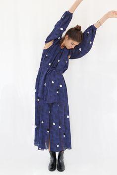Rodebjer Yara Moons Dress Blue