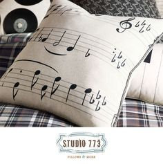 Music Decorative Pillows.. For the music room-- makes me want to tap my feet. ;)