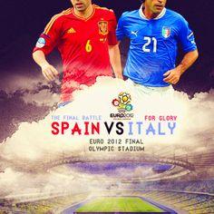 Euro 2012 final. Spain vs Italy