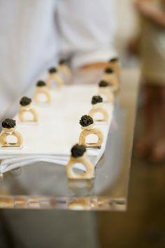Caviar Cracker Engagement Rings from Peter Callahan Catering.