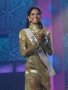 Miss Trujillo Elizabeth Mosquera, en su Desfile en Traje de Gala en el Miss Venezuela 2009