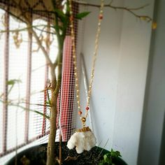 Rosary necklace with natural coral