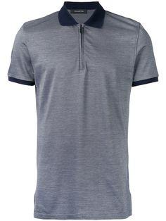 ERMENEGILDO ZEGNA zip-up polo shirt. #ermenegildozegna #cloth #shirt Pique Shirt, Polo Shirt, Zip Ups, Short Sleeves, Mens Fashion, Mens Tops, Cotton, Shirts, Clothes
