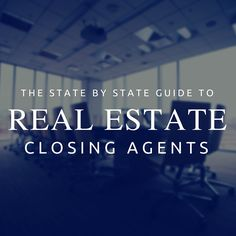 Where and Where are you REQUIRED to Close Your Real Estate Deals with an Attorney?