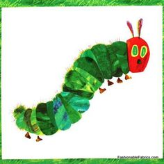 Fabric... The Very Hungry Caterpillar Panel by Eric Carle
