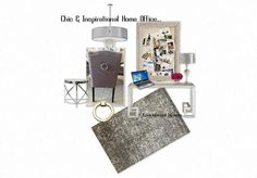 Chic & inspirational home office, luxe for less by LUXE interiors by anne...