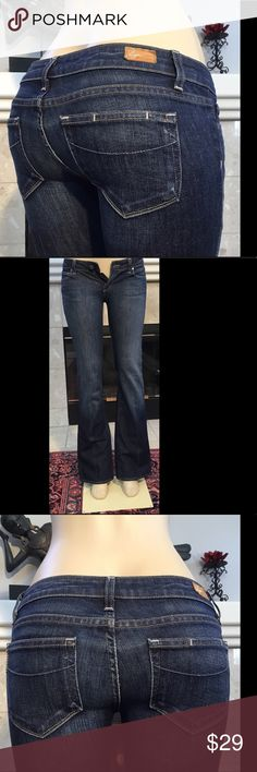 """PAIGE  """"LAUREL CANYON"""" JEANS SZ 28X33"""" (625) PAIGE PREMIUM """"LAUREL CANYON"""" WOMEN'S JEANS SZ 28, INSEAM 33"""", RISE 7.5"""", WAIST 15.5"""".  In great used condition. minor wear at hems COMES FROM A SMOKE FREE HOME (625) Paige Jeans Jeans Boot Cut"""