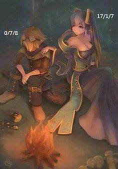 sona and ezreal - This seems to be how every one of my games ends up ;x