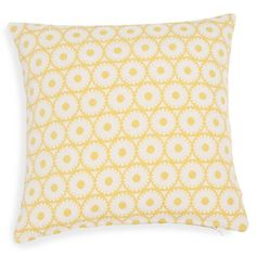 ADGE cushion cover with yellow jacquard motifs 40 x 40 cm