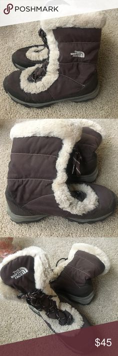 The North Face Winter Brown Boots The North Face Winter Brown Boots with TNF Winter Grip on Bottom North Face Shoes Winter & Rain Boots