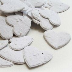 Heart Shaped Plantable Seed Confetti in WHITE Value Pack (two 350-piece bags = 700 pieces of seed confetti)