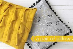 Darling DIY Throw Pillows