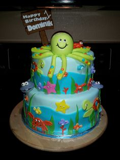 torta a tema mare Torte per bambini Pinterest Sea cakes