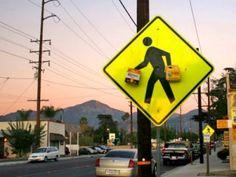 Beer Crossing sign
