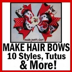 $9.99 How to Make Hair Bows Instructions on CD and Ebook!