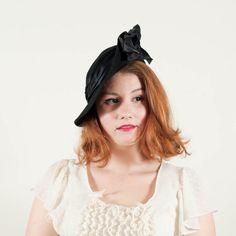 vintage 1930s hat Jean Nedra slouch hat