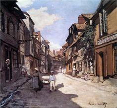 Street of the Bavolle Honfleur  Artist: Claude Monet  Completion Date: 1864