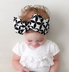 Black and White Baby Headwrap Black White by CollectiveCreationsC