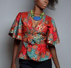 African Print Kimono Jacket